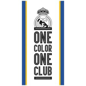 Carbotex • Bavlněná fotbalová osuška FC REAL MADRID - ONE COLOR ONE CLUB - 100% bavlna - 70 x 140 cm