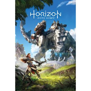 Plakát, Obraz - Horizon Zero Dawn - Key Art, (61 x 91,5 cm)