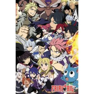Plakát, Obraz - Fairy Tail - Season 6 Key Art, (61 x 91,5 cm)