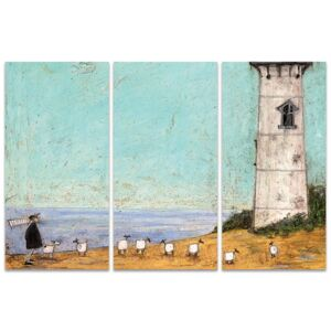 Obraz na plátně Sam Toft - Seven Sisters And A Lighthouse, (100 x 150 cm)