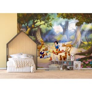 AG Design 4 dílná fototapeta SNOW WHITE WITH ANIMALS FTDNXXL 5014, 360 x 270 cm vlies