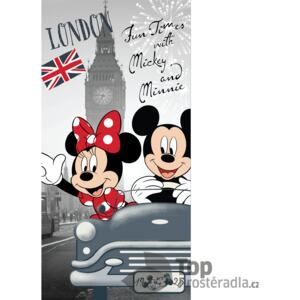 TOP Osuška 70x140 Mickey & Minnie London Love