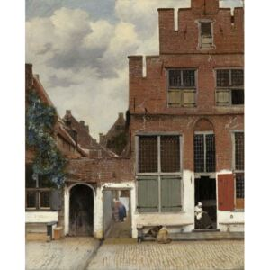 Obraz, Reprodukce - View of Houses in Delft, known as 'The Little Street', c.1658, Jan (1632-75) Vermeer