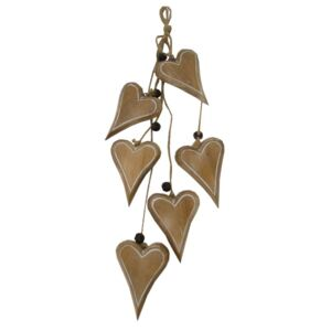 Girlanda Antic Line Decorative Hearts