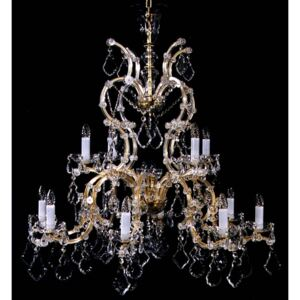 12 flames Maria Theresa crystal chandelier with Pendeloques