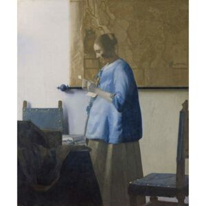 Obraz, Reprodukce - Woman Reading a Letter, c.1662-63, Jan (1632-75) Vermeer