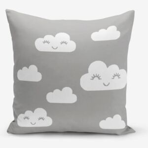 Povlak na polštář s příměsí bavlny Minimalist Cushion Covers Grey Background Cloud, 45 x 45 cm