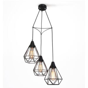 Light4home Lustr na lanku DIAMOND 3xE27/60W/230V 38 cm LH0282