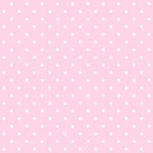 Tapety Pink & White 2cm Dots