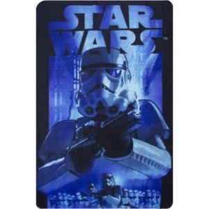 SUN CITY Fleecová / fleece deka Star Wars Stormtrooper blue 100x150