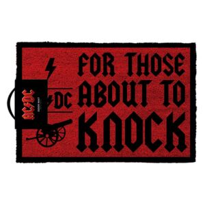 Rohožka AC/DC: For Those About To Knock (60 x 40 cm) červená