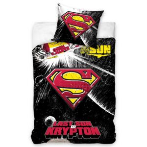 TIPTRADE Carbotex Povlečení Superman Black 140x200/70x80
