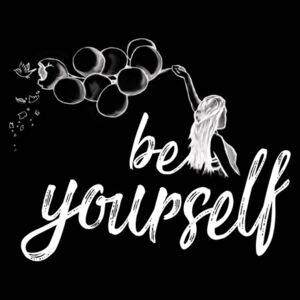 Be yourself - Black, (96 x 128 cm)