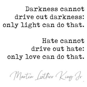 Quote Luther King jr., (96 x 128 cm)