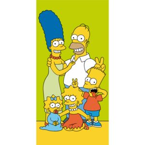 Jerry Fabrics Osuška licenční Simpsons Family Green 70x140