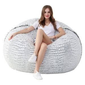 Beanbag Sedací vak Air Big white - gray