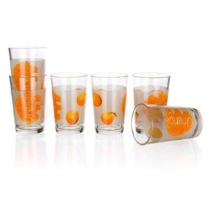 BANQUET Sada sklenic ORANGE 230 ml, 6 ks