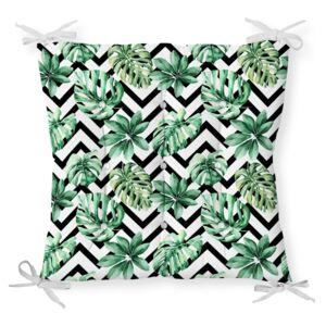 Podsedák s příměsí bavlny Minimalist Cushion Covers Palm Leaves, 40 x 40 cm