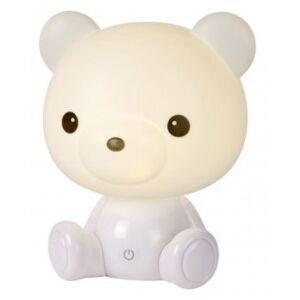 LUCIDE DODO Bear Table Lamp LED 3W H25cm White, stolní lampa
