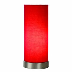 LUCIDE TUBI Table lamp E14 D10,5 H25,5cm Red, stolní lampa