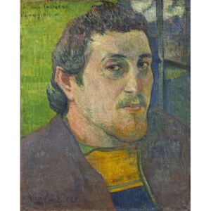 Obraz, Reprodukce - Self Portrait dedicated to Carriere, 1888-1889, Paul Gauguin