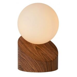 LUCIDE LEN Table Lamp G9 Dark Wood, stolní lampa