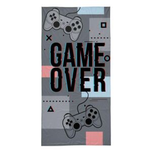 DETEXPOL Osuška Game Over grey Bavlna Froté, 70/140 cm