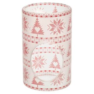 Yankee Candle - aromalampa Red Nordic Frosted Glass