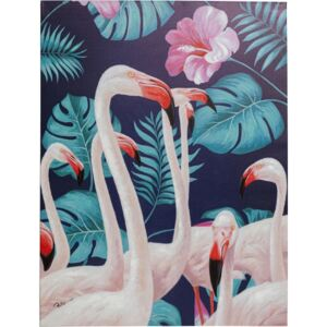 KARE DESIGN Ručně malovaný obraz Flamingo Road Nature 122x92cm