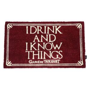 Rohožka Game Of Thrones|Hra o trůny: I Drink And I Know Things (72 x 43 cm)