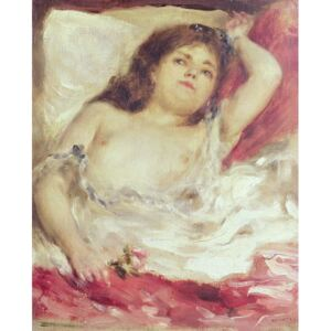 Obraz, Reprodukce - Semi-Nude Woman in Bed: The Rose, before 1872, Pierre Auguste Renoir