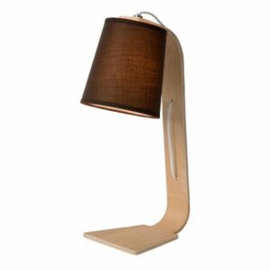 LUCIDE NORDIC Table Lamp E14 W20 H43cm Wood, stolní lampa