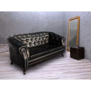 ASKONT Bristol Antique Black pohovka 2M