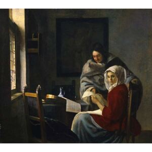 Obraz, Reprodukce - Girl interrupted at her music, c.1658-69, Jan (1632-75) Vermeer