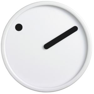 PICTO Picto Clock - Black on White + dárek zdarma