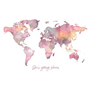 Ilustrace Worldmap she is going places, Finlay & Noa