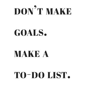 Ilustrace Dont make goals make a to do list, Finlay & Noa