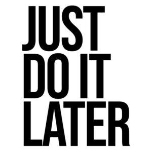 Ilustrace Just do it later, Finlay & Noa