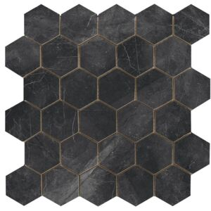 EBS Museo hexagon 30x30 lotus black lesklý