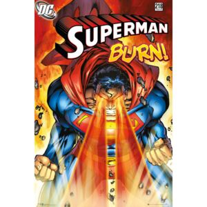 Plakát, Obraz - Superman - Burn, (61 x 91,5 cm)