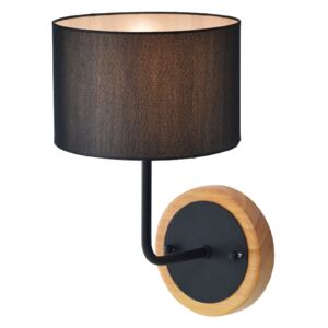ACA DECOR Nástěnná lampa Fabric Black