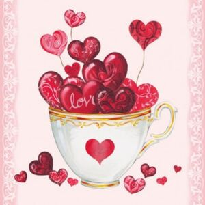 Ambiente Ubrousky Cup of Hearts 33x33 cm, 20 ks