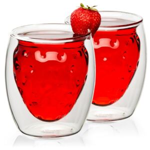 Termo sklenice Strawberry Hot&Cool, 250 ml, 2 ks