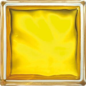 Luxfera Glassblocks yellow 19x19x8 cm sklo 1908WGL