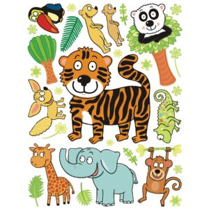 AG Design K1045 Samolepicí dekorace WALL STICKER TIGER 65 x 85 cm
