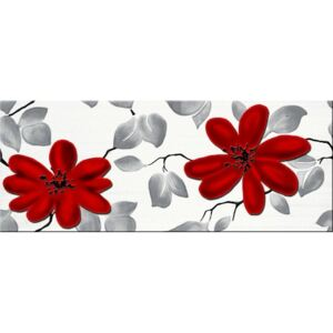 Dekor Fineza Fresh flowers red 20x50 cm lesk DFRESHFRE