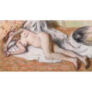 Obraz, Reprodukce - After the Bath or, Reclining Nude, c.1885, Edgar Degas