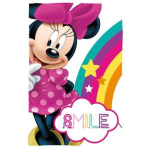 EUROSWAN Fleece deka Minnie Smile 100% Polyester, 100/150 cm