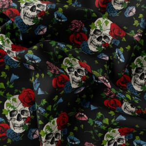 Fleece – Flower skulls