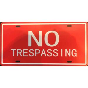 Cedule No Trespassing